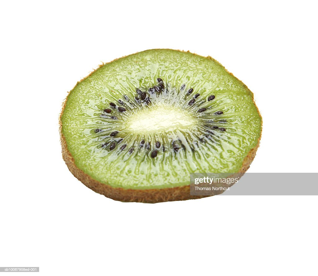Kiwi slice on white background : Stock Photo
