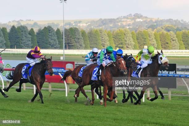Kiwia ridden by John Allen wins the Hygain BM64 Handicap at SportsbetBallarat Racecourse on May 14 2017 in Ballarat Australia