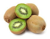 Kiwifruit on white background