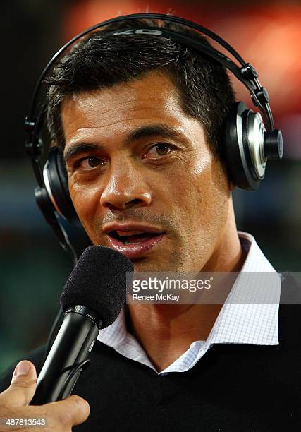 Kiwis coach Stephen Kearney speaks to the media after the ANZAC Test match between the Australian Kangaroos and the New Zealand Kiwis at Allianz...