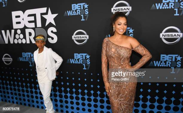 Kiyan Carmelo Anthony and La La Anthony at the 2017 BET Awards at Staples Center on June 25 2017 in Los Angeles California