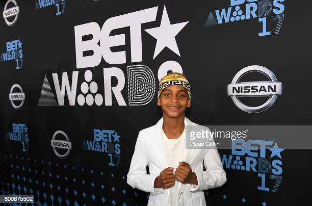 Kiyan Carmelo Anthony at the 2017 BET Awards at Staples Center on June 25 2017 in Los Angeles California