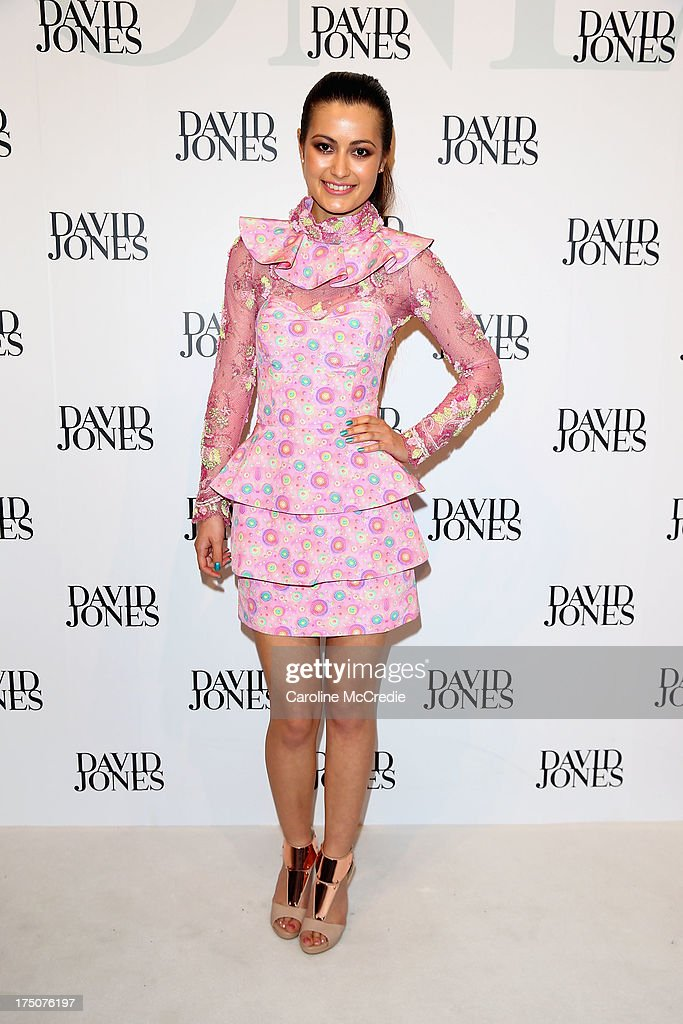 Kiyomi Vella arrives at the David Jones Spring/Summer 2013 Collection Launch at David Jones Elizabeth Street on July 31, 2013 in Sydney, Australia.