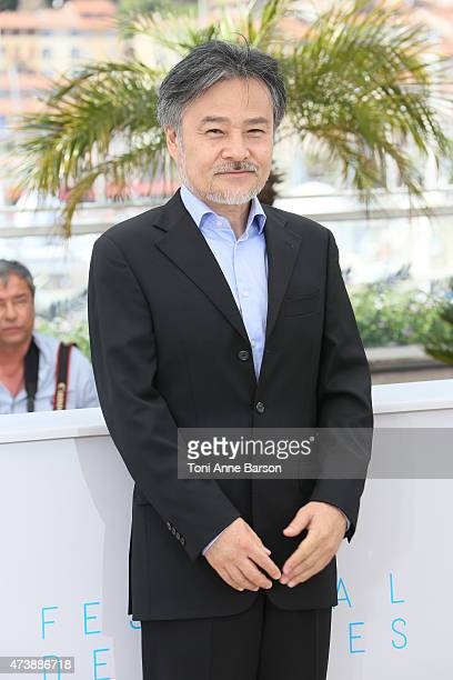 Kiyoshi Kurosawa attends the 'Kishibe No Tabi' photocall during the 68th annual Cannes Film Festival on May 17 2015 in Cannes France