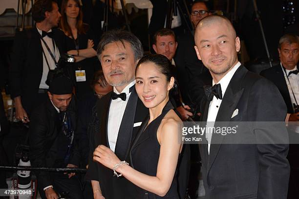 Kiyoshi Kurosawa Eri Fukatsu and guest attend 'Kishibe No Tabi' Premiere during the 68th annual Cannes Film Festival on May 17 2015 in Cannes France