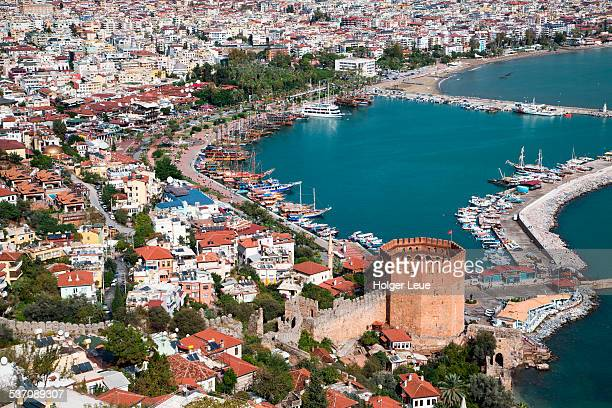 Kizil Kule (Red Tower) and Alanya Marina