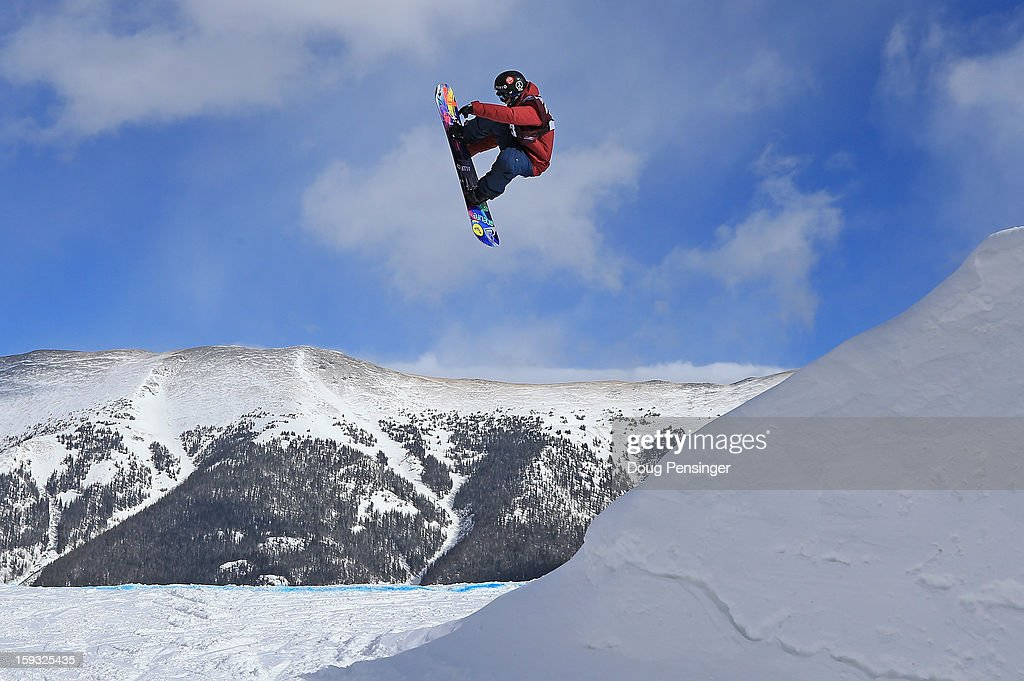 Kjersti Buaas of Norway soars to second place the ladies FIS Snowboard Slope Style World Cup at the US Grand Prix on January 11, 2013 in Copper Mountain, Colorado.