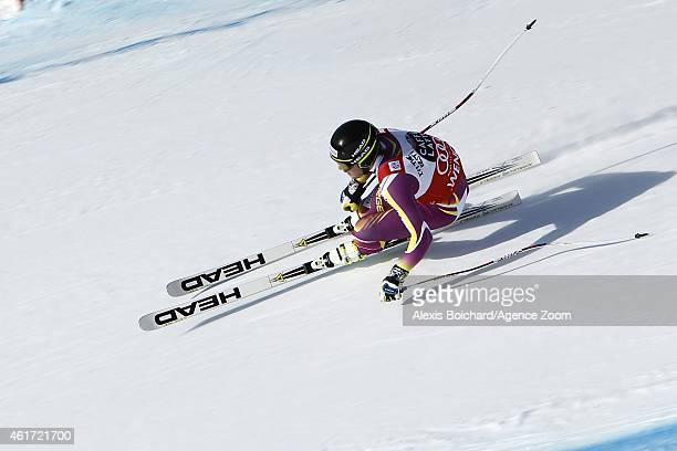 Kjetil Jansrud of Norway competes during the Audi FIS Alpine Ski World Cup Men's Downhill on January 18 2015 in Wengen Switzerland