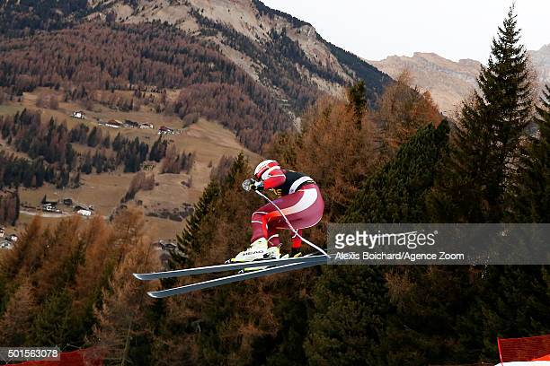 Kjetil Jansrud of Norway competes during the Audi FIS Alpine Ski World Cup Men's Downhill Training on December 16 2015 in Val Gardena Italy