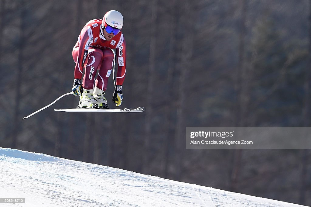 <a gi-track='captionPersonalityLinkClicked' href=/galleries/search?phrase=Kjetil+Jansrud&family=editorial&specificpeople=816480 ng-click='$event.stopPropagation()'>Kjetil Jansrud</a> of Norway competes during the Audi FIS Alpine Ski World Cup Men's Downhill on January 06, 2016 in Jeongseon, South Korea.