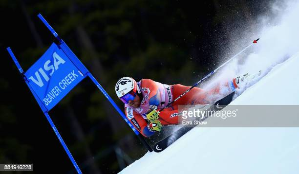 Kjetil Jansrud of Norway competes in the first run of the Birds of Prey World Cup Giant Slalom race on December 3 2017 in Beaver Creek Colorado
