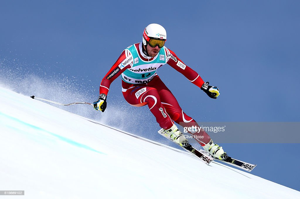 <a gi-track='captionPersonalityLinkClicked' href=/galleries/search?phrase=Kjetil+Jansrud&family=editorial&specificpeople=816480 ng-click='$event.stopPropagation()'>Kjetil Jansrud</a> of Norway in action during the Audi FIS Alpine Skiing World Cup downhill training on March 15, 2016 in St Moritz, Switzerland.