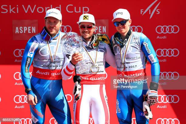 Kjetil Jansrud of Norway in second place in the overall standings Marcel Hirscher of Austria wins the globe in the overall standings and Henrik...