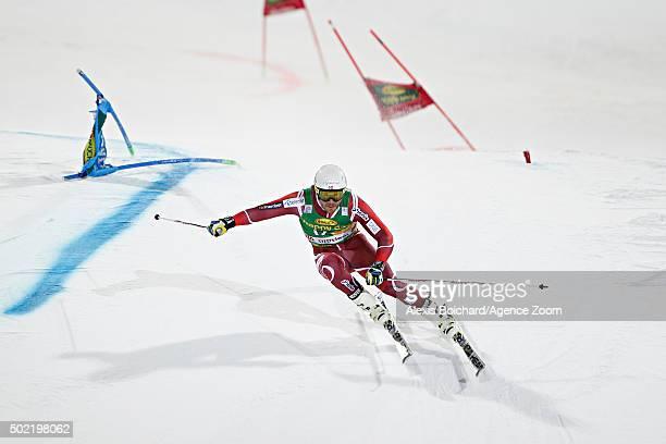 Kjetil Jansrud of Norway takes 1st place during the Audi FIS Alpine Ski World Cup Men's Parallel Giant Slalom on December 21 2015 in Alta Badia Italy