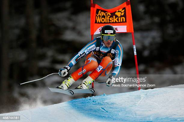 Kjetil Jansrud of Norway takes 2nd place during the Audi FIS Alpine Ski World Cup Men's Downhill on December 21 2013 in Val Gardena Italy