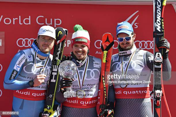 Kjetil Jansrud of Norway takes 2nd place in the overall standings Peter Fill of Italy wins the globe in the overall standings Dominik Paris of Italy...