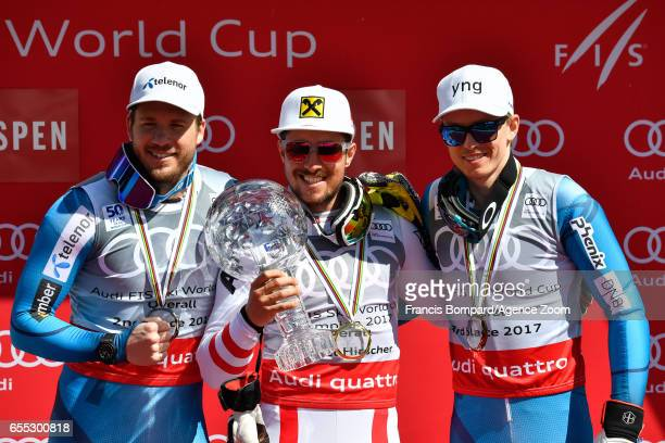 Kjetil Jansrud of Norway takes 2nd place in the overall standings Marcel Hirscher of Austria wins the globe in the overall standings Henrik...