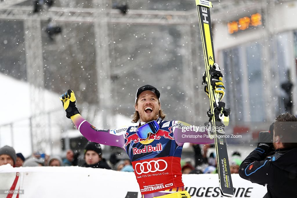 <a gi-track='captionPersonalityLinkClicked' href=/galleries/search?phrase=Kjetil+Jansrud&family=editorial&specificpeople=816480 ng-click='$event.stopPropagation()'>Kjetil Jansrud</a> of Norway takes the 1st place during the Audi FIS Alpine Ski World Cup Men's Downhill on January 24, 2015 in Kitzbuehel, Austria.