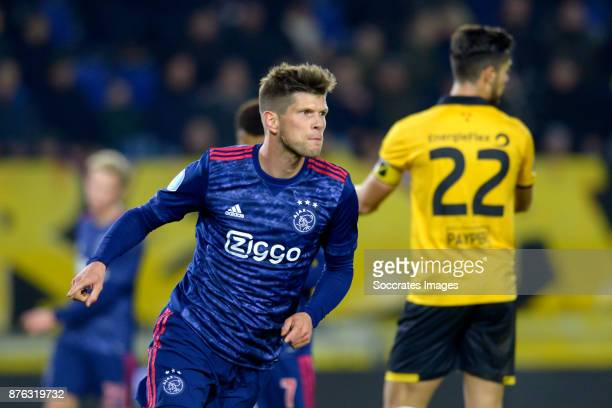 Klaas Jan Huntelaar of Ajax celebrate 07 during the Dutch Eredivisie match between NAC Breda v Ajax at the Rat Verlegh Stadium on November 18 2017 in...