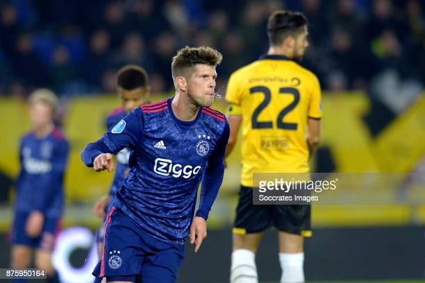 Klaas Jan Huntelaar of Ajax celebrates 07 during the Dutch Eredivisie match between NAC Breda v Ajax at the Rat Verlegh Stadium on November 18 2017...