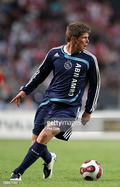 Klaas Jan Huntelaar of Ajax during the Amsterdam Tournament between Ajax and Atletico Madrid at the Amsterdam Arena on August 02 2007 in Amsterdam...
