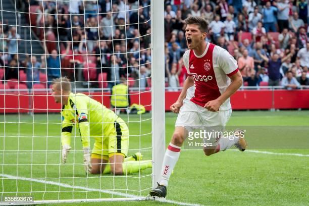 10 Klaas Jan Huntelaar of Ajax during the Dutch Eredivisie match between Ajax Amsterdam and FC Groningen at the Amsterdam Arena on August 20 2017 in...