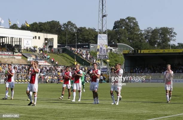 Klaas Jan Huntelaar of Ajax Joel Veltman of Ajax David Neres of Ajax Kasper Dolberg of Ajax Nick Viergever of Ajax Hakim Ziyech of Ajax Frenkie de...
