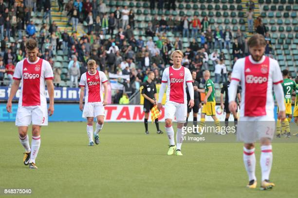 Klaas Jan Huntelaar of Ajax Matthijs de Ligt of Ajax Kasper Dolberg of Ajax Lasse Schone of Ajax during the Dutch Eredivisie match between ADO Den...