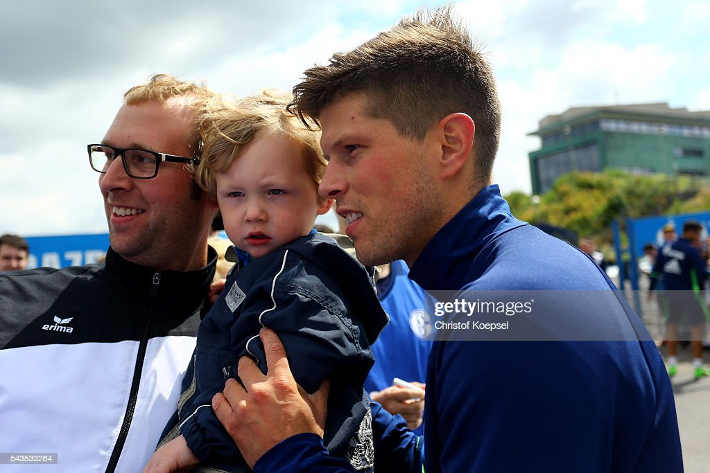Klaas-Jan Huntelaar poses during the training session of Schalke 04 at training ground on June 29, 2016 in Gelsenkirchen, Germany.