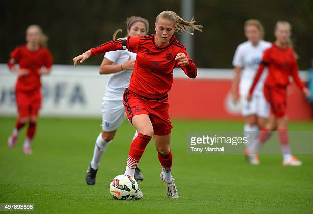 Klara Buhl of Germany during Women's U16s International Friendly match between England U16s Women and Germany U16s Women at St Georges Park on...