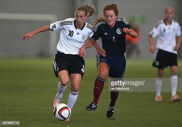 GLASGOW SCOTLAND OCTOBER Klara Buhl of Germany vies with Sophie Aitken of Scotland during the International Challenge Match between Scotland Women's...
