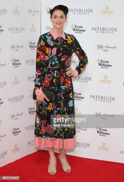 Klara Issova attends the World Premiere of 'Interlude In Prague' at Odeon Leicester Square on May 11 2017 in London England
