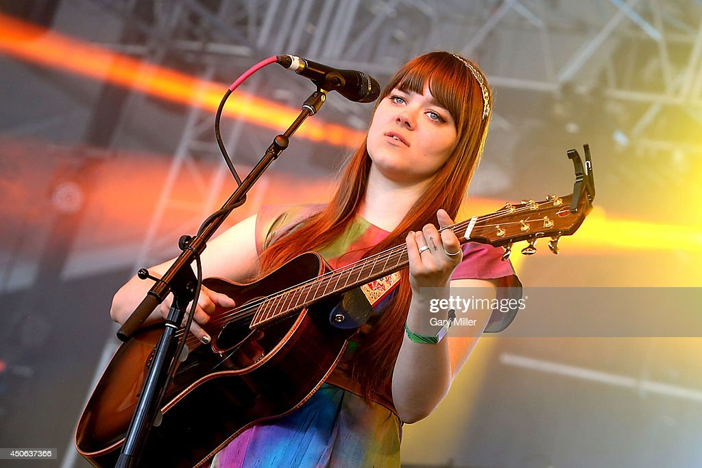 Klara Söderberg performs in concert with First Aid Kit during the 2014 Bonnaroo Music & Arts Festival on June 14, 2014 in Manchester, Tennessee.