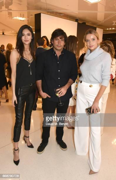 Klara Vrtalova Rodrigo Garcia Alvarez and Louisa Warwick attend as Vogue Chopard open Glittering Prizes a photo exhibition by Ivan Shaw celebrating...