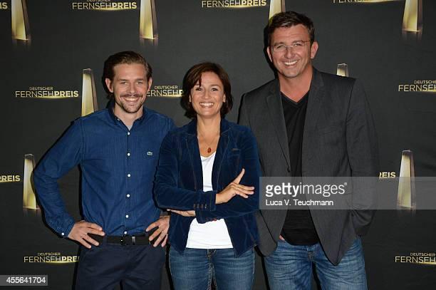 Klass HeuferUmlauf Sandra Maischberger and Hans Sigl attend Deutscher Fernsehpreis 2014 Nominations Announcement at Deutsche Kinemathek on September...