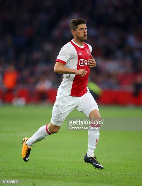 Klass Jan Huntelaar of Ajax during the UEFA Champions League Qualifying Third Round match between Ajax and OSC Nice at Amsterdam Arena on August 2...