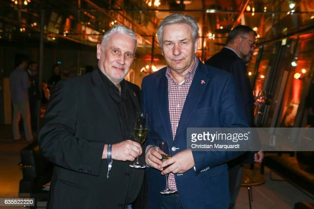 Klau Wowereit and Joern Kubicki attends the 'Return to Montauk' after show party during the 67th Berlinale International Film Festival Berlin at...