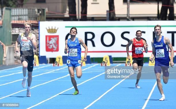 Klaudio Gjetja in action during European Athletics U20 Championships on July 20 2017 in Grosseto Italy