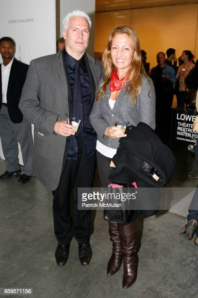 Klaus Biesenbach and Diana Picasso attend New Museum VIP Preview of URS FISCHER Opening at New Museum on the Bowery on October 27 2009 in New York...