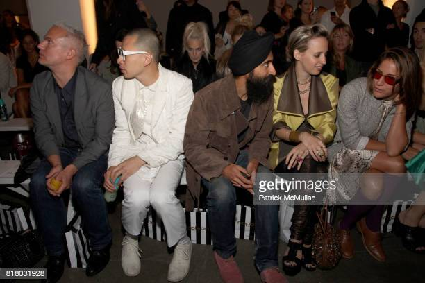 Klaus Biesenbach Terence Koh Waris Ahluwalia Hope Atherton and Minnie Mortimer attend ELISE OVERLAND Spring 2011 Fashion Show at 475 10th Ave on...