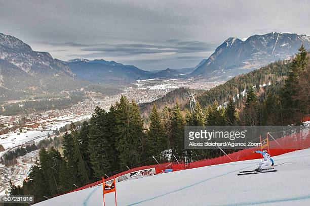 Klaus Brandner of Germany in action during the Audi FIS Alpine Ski World Cup Men's Downhill Training on January 28 2016 in GarmischPartenkirchen...