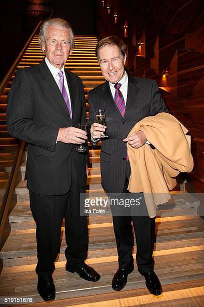 Klaus Bresser and Ulrich Meyer attend the Victress Awards Gala on 2016 in Berlin Germany