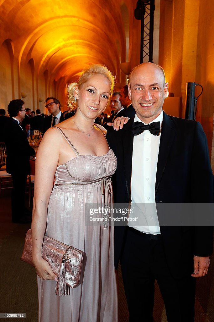 Klaus Dohle and his wife, Caroline Rapp attend the L'Oreal Gala Evening 2014 at Chateau de Versailles on June 20, 2014 in Versailles, France.