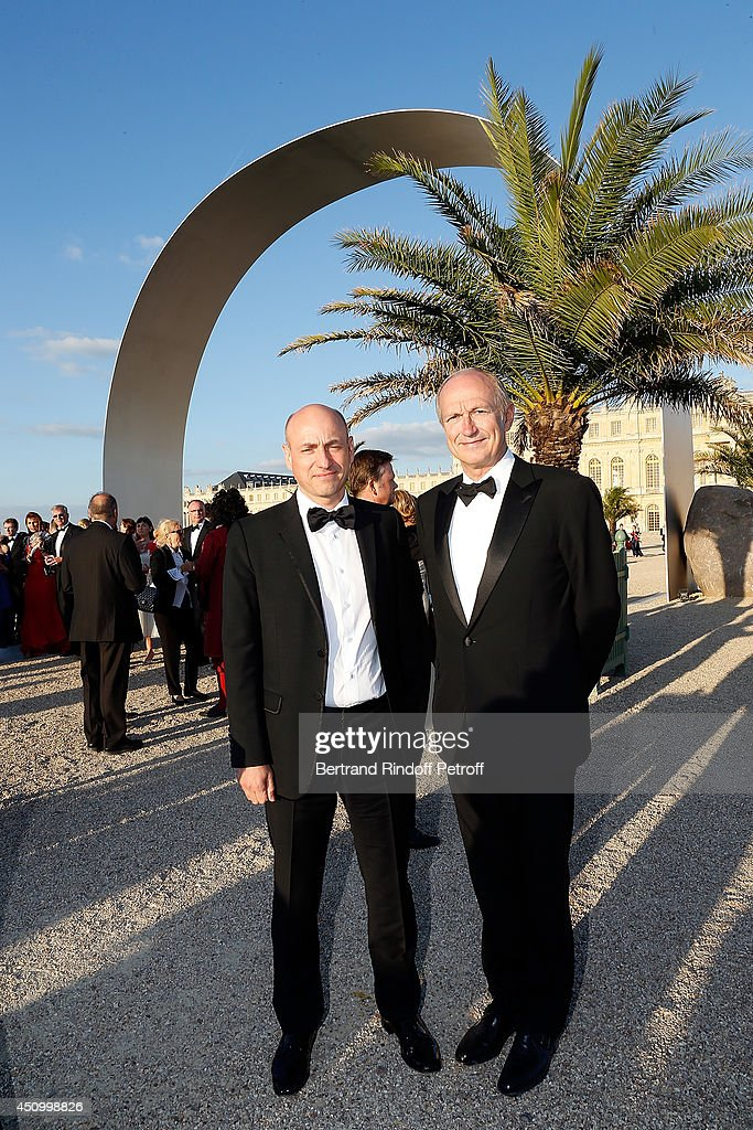 Klaus Dohle and Jean Paul Agon, president of L'Oreal Group attend the L'Oreal Gala Evening 2014 at Chateau de Versailles on June 20, 2014 in Versailles, France.