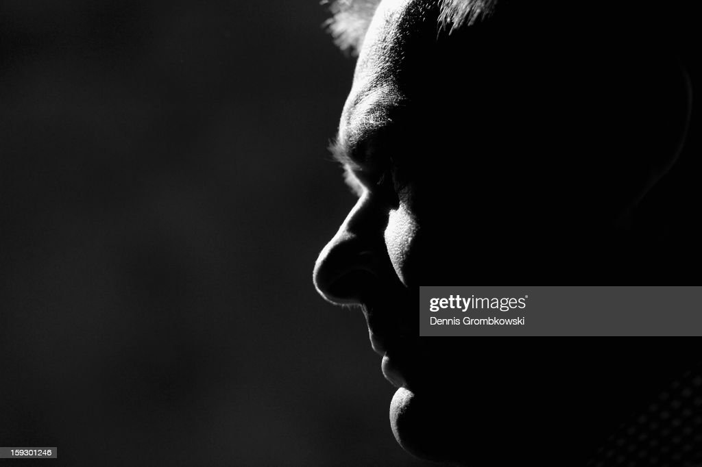 Klaus Filbry, CEO of Werder Bremen, reacts during a media talk at day seven of the Werder Bremen Training Camp on January 11, 2013 in Belek, Turkey.