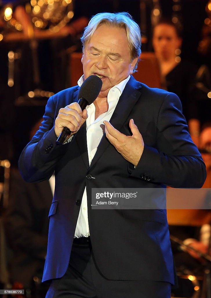 Klaus Hoffmann performs at the opening night of the Classic Open Air festival at Gendarmenmarkt on July 21 2016 in Berlin Germany