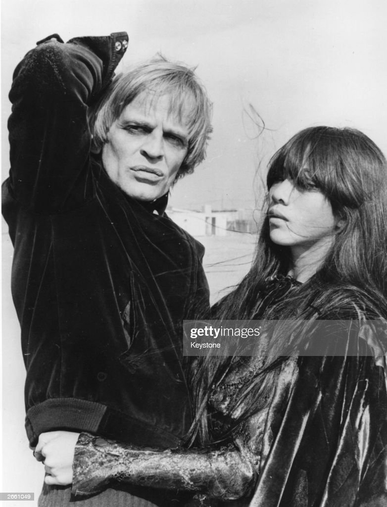Klaus Kinski, German film actor, with his third wife Min Hoi from Vietnam. Original Publication: People Disc - HF0694
