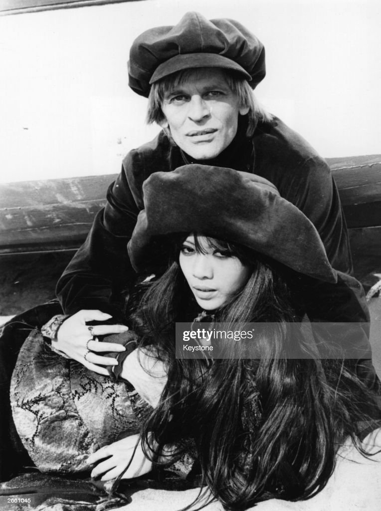 Klaus Kinski the German film actor with his third wife Min Hoi. Original Publication: People Disc - HF0693