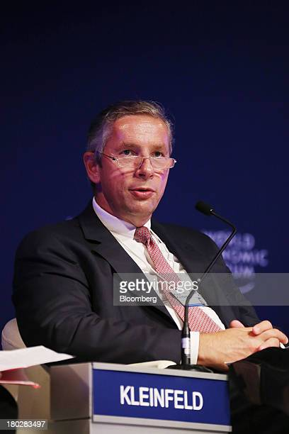 Klaus Kleinfeld chairman and chief executive officer of Alcoa Inc speaks during the World Economic Forum Annual Meeting Of The New Champions in...