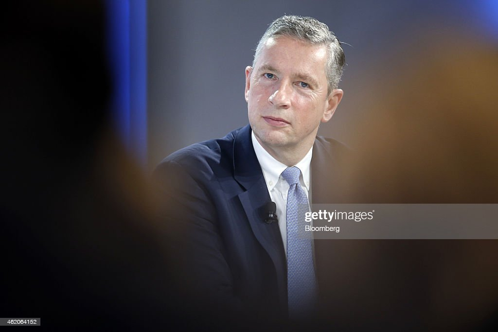 <a gi-track='captionPersonalityLinkClicked' href=/galleries/search?phrase=Klaus+Kleinfeld&family=editorial&specificpeople=558412 ng-click='$event.stopPropagation()'>Klaus Kleinfeld</a>, chief executive officer of Alcoa Inc., pauses during a session on day three of the World Economic Forum (WEF) in Davos, Switzerland, on Friday, Jan. 23, 2015. World leaders, influential executives, bankers and policy makers attend the 45th annual meeting of the World Economic Forum in Davos from Jan. 21-24. Photographer: Jason Alden/Bloomberg via Getty Images